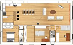 Habitats, How To Plan, Kitchen, House, Architecture, Mini, Houses, Arquitetura, Cooking