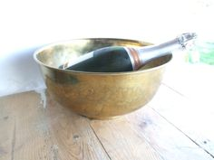 Brass Champagne Ice Bucket by VintageRetroOddities on Etsy