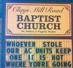 15 Hilariously Menacing Church Signs - Oddee.com