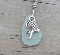 Spring Rose Sea Glass Necklace by WaveofLife on Etsy, $18.00