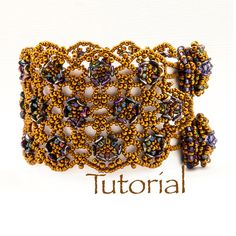 Beaded Bracelet Pattern with O Beads Rosemoor Lace Bracelet Digital Download by JewelryTales on Etsy https://www.etsy.com/listing/175622580/beaded-bracelet-pattern-with-o-beads