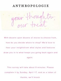 Your opinion, please. - Anthropologie