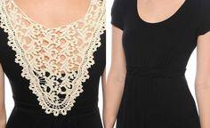 To Guardando o Modelo >> Modelos de Vestido: Vestido preto e branco (4)