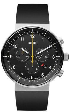 Braun Unisex-Armbanduhr BN0095BKSLBKG Analog Quarz Kautschuk 66548