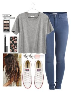 """""""When you and I Were Forever Wild♥"""" by noellexox ❤ liked on Polyvore featuring moda, Pieces, Converse, Givenchy, Madewell, Bobbi Brown Cosmetics e Essie"""