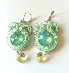 Soutache earrings-swarovski crystal