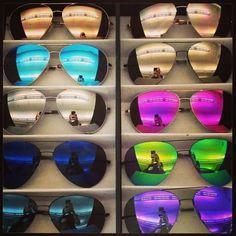 mirror sunglasses in store, Stylish mirror sunglasses http://www.justtrendygirls.com/stylish-mirror-sunglasses/