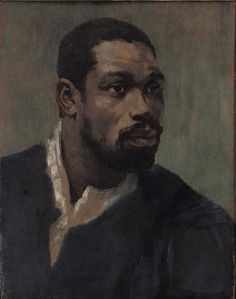 Glyn Philpot (British 1884–1937) [Portraiture] Head of a Negro. Oil on canvas, 58 x 43 cm.