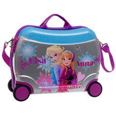 Maleta modelo Sisters de Frozen un Corre pasillos, las princesas del reino de hielo Frozen nos traen su maleta de viaje mas chula e innovadora.