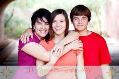 mom and kids, adults, teens, siblings