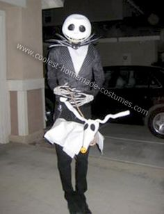 Homemade Jack Skellington Costume: This is a re-worked Homemade Jack Skellington Costume that I altered for my friend. He is incredibly skinny so I had to take the costume in quite a bit.