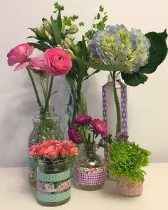 Hometalk | Washi Tape Flower Vases