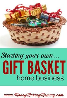 How to Start a Gift Basket Business [Right from Home!] Home Business-Ideen: Geschenkkorb Home Business Home Party Business, Best Home Based Business, Home Based Business Opportunities, Business Planning, Business Tips, Online Business, Home Business Ideas, Business Motivation, Business Inspiration