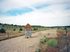 'Road Closed' - the original carriageway of old Route 66, west of Seligman, AZ