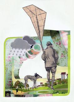 Collages - Olga Lupi - Jardin Moderne via Unidivers. Artists on tumblr