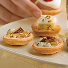 Peach & Bleu Cheese Bites... I'm going to have to have a party... ;~).