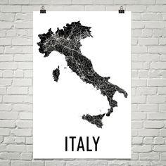 Italië kaart, kaart van Italië, Italië Wall Art, Italië Poster Print, Italië, Italiaans Decor, de giften van de Italiaanse kunst, Italië, Italiaanse kaart, Italiaanse Print