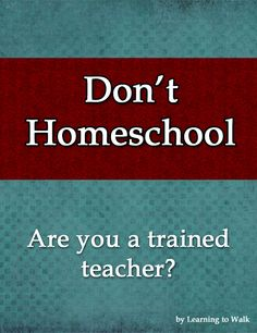 What naysayer say about #homeschool and how to answer
