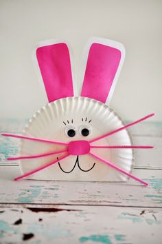 Paper Plate Bunny - fun kids craft for Easter #easter #crafts #bunny