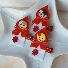 Little Red Riding Hood Hair Clip You Choose Hair by MyLittlePixies, $4.75