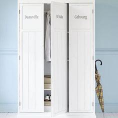 Guardaroba bianco in legno L 125 cm