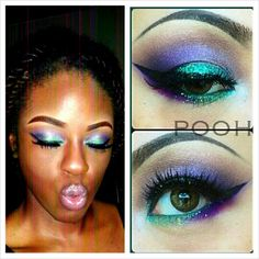 Inspired by this makeup look! Never feel discouraged to use color! Make it work for you! #Makeup #nudelips #eyeshadow #faceoftheday #faceofthenight #mua #womenofcolor