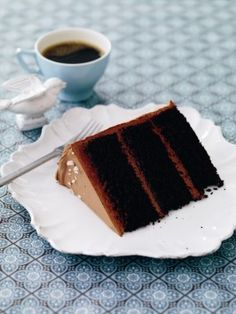 Salted caramel is the perfect foil to dark chocolate in this grown-up cake.