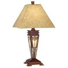 Art Glass Mission Night Light Table Lamp