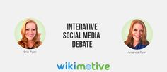 Interactive Debate: Which Facebook Page Call-to-Action Button is Best? Weigh-in which side you choose by tweeting @wikimotive on Twitter! #TEAMERIN or #TEAMAMANDA