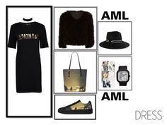 """""""DESTINY"""" by amlhouse ❤ liked on Polyvore featuring Boohoo, Jocelyn, Eugenia Kim, GET LOST, blackandgold, photography, retro and chokerdress"""