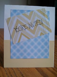 Simple and Easy invite card