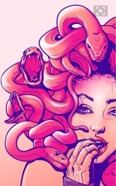 Art Sketches, Art Drawings, Medusa Tattoo Design, Medusa Art, Snake Art, Mythical Creatures, Dark Art, Painting Inspiration, Mythology