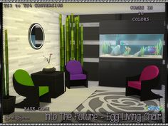 SrslySims | 'Into the Future' Egg Living Chair