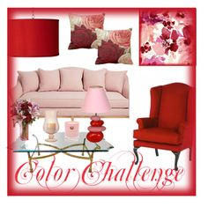 """""""Color Challenge: Pink and Red"""" by claire394 ❤ liked on Polyvore featuring interior, interiors, interior design, home, home decor, interior decorating, Universal Lighting and Decor, Hightide Devon, colorchallenge and redandpink"""