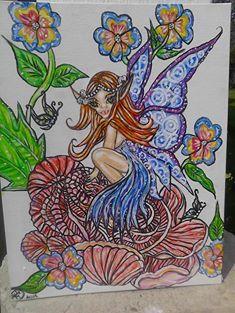 Fairy dust of wonder 11x14 Acrylic painting