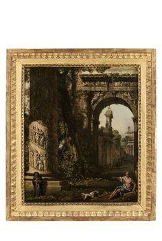 [Caprice architectural avec l'arc de Titus et la colonne Trajane] | Les Arts décoratifs