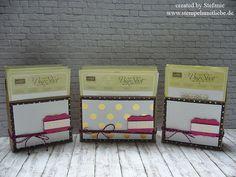 Stampin Up - Anleitung - Tutorial - Embossing Folder Holder - Prägefolder Halter - Pink mit Pep - Pep with pink ♥ StempelnmitLiebe