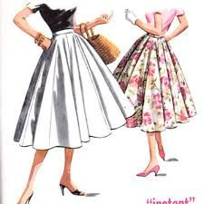 Image result for gored skirts