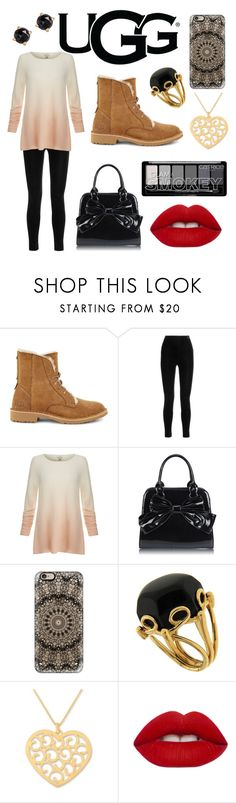 """The New Classics With UGG: Contest Entry"" by samanthapretor ❤ liked on Polyvore featuring UGG, Balmain, Joie, Casetify, Valentin Magro, NOVICA, Lime Crime, Irene Neuwirth and ugg"