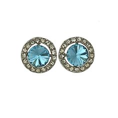 Aquamarine Color Swarovski Elements Sun Earings >>> Read more reviews of the product by visiting the link on the image. Note:It is Affiliate Link to Amazon.