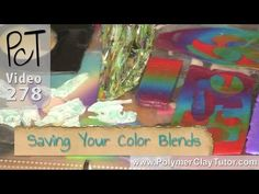 Video #278: Here's the situation... after cutting out the pieces you need from your color gradient sheet, there's lots of clay left over, but it's full of ho...