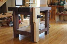 Walnut chairmakers bench - Greg Pennington