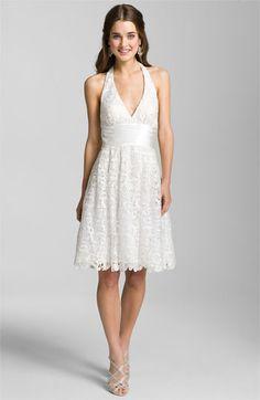 Aidan Mattox Lace Halter Dress for the reception.