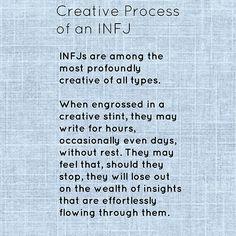 INFJ. Creativity