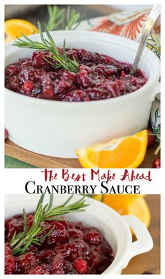 The best cranberry sauce recipe you'll find! Make ahead, easy ingredients. Effortless recipe is a Thanksgiving hit!