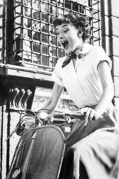 Audrey Hepburn in Roman Holiday.