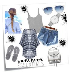 """""""Untitled #9"""" by dzanab ❤ liked on Polyvore featuring Post-It, Havaianas, Christian Dior and Topshop"""