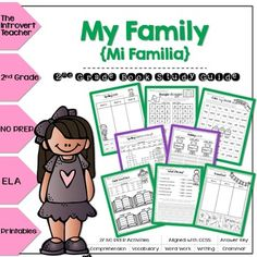 My Family is an informational book about a girl named Camila. These printables are a great supplement! 2nd grade