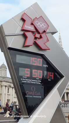 Olympics, #Clock #Trafalgar Square, #London #Londres
