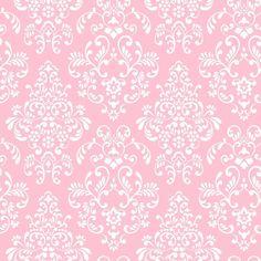 Pink White Damask Wallpaper | Babies Kids Tween Damask Wallpaper | KD1754 #York